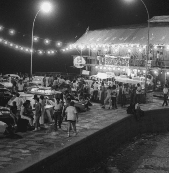Circo no Arpoador em janeiro de 1982