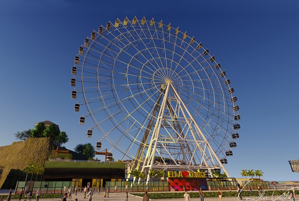 Projeção da roda gigante Rio Star
