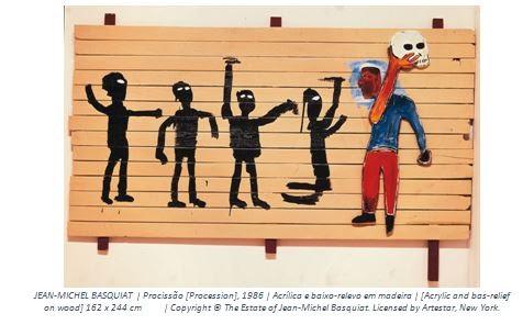 Obra de Basquiat na exposição do CCBB Rio