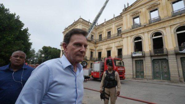 Crivella visitou Museu Nacional